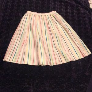 Penguin rainbow striped a-line summer skirt